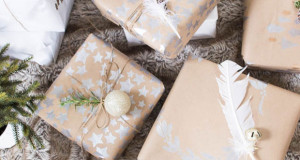 Stenciled Christmas Wrapping Paper-Almost Too Beautiful to Tear Open