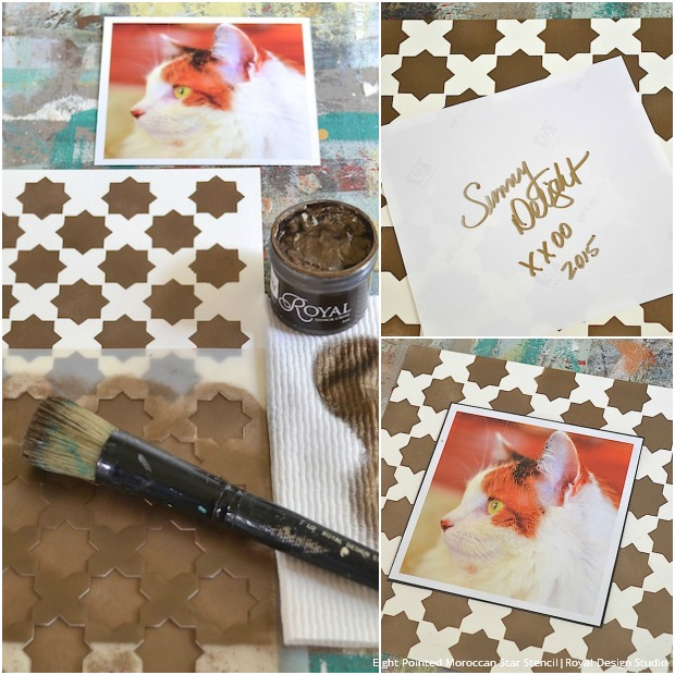 stenciling moroccan patterns diy frame