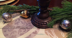 Stencil Tutorial: Rustic Shutter Holiday Table Centerpiece