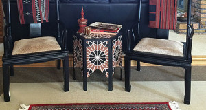 DIY Stenciled Moroccan Inlaid Table