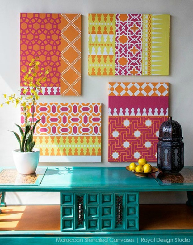 Moroccan-Stencils-Canvas-Art