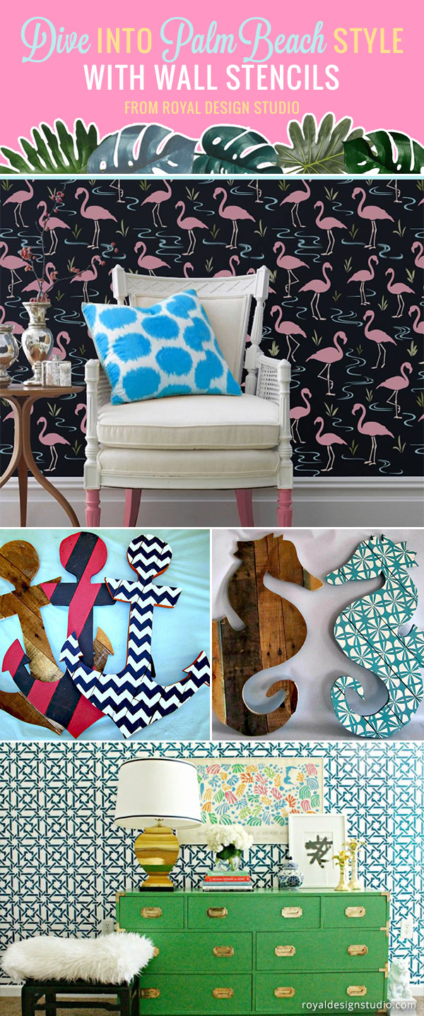 DIY Nautical & Beach Decor Idea: Dive Into Palm Beach Style with Wall Stencils - Royal Design Studio