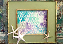 Paint Watercolor Wall Art with Stencils