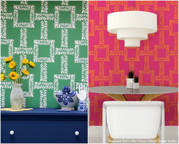 Dive Into Palm Beach Style with Wall Stencils - Paint + Pattern