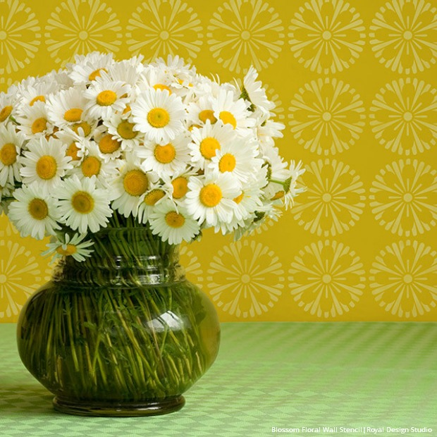 geometric-floral-furniture-stencil