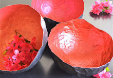 DIY Painted Paper Maché Bowls