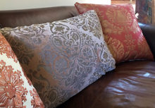 Luxe Bohemian Look: Stenciled Fortuny Style Pillows Tutorial