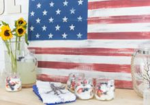 Proud & Painted: Stenciled Rustic Wood American Flag
