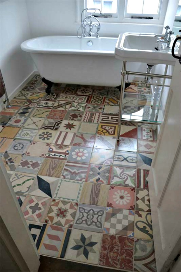 Trend Watch: Encaustic Tile - Get the Look with Patchwork Tile Stencils from Royal Design Studio