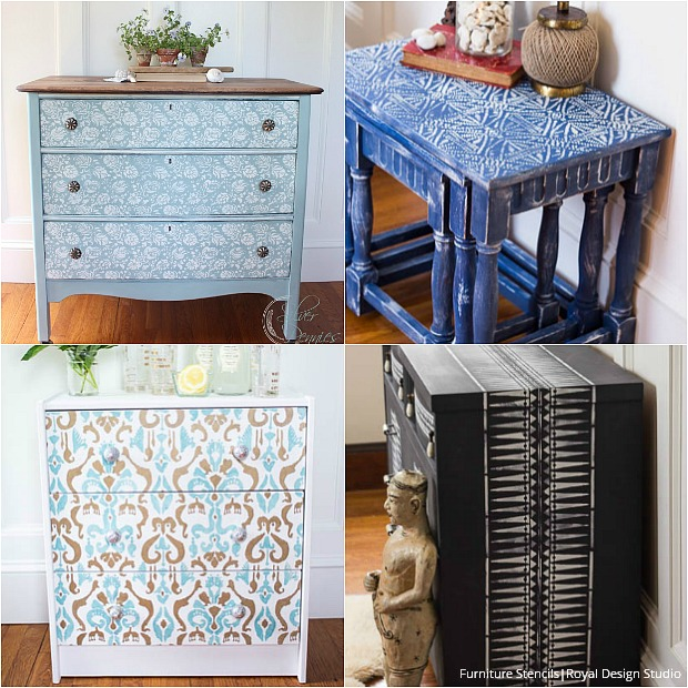 stenciled painted furniture finsihes