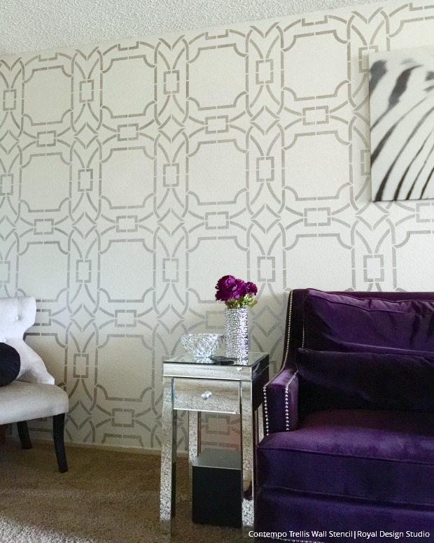 large designer wall stencils painting