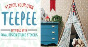 It's Playtime! Stencil a DIY Teepee
