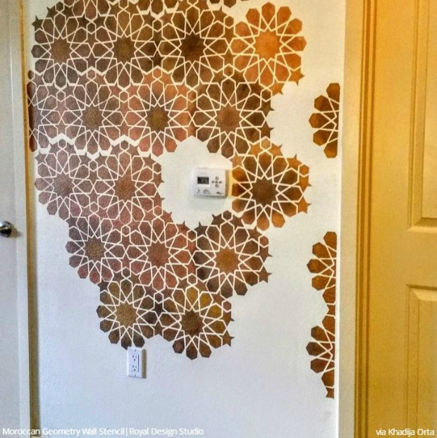 Break Free with Deconstructed Stenciling - Painting with Wall Stencils to Decorate Custom Wall Art