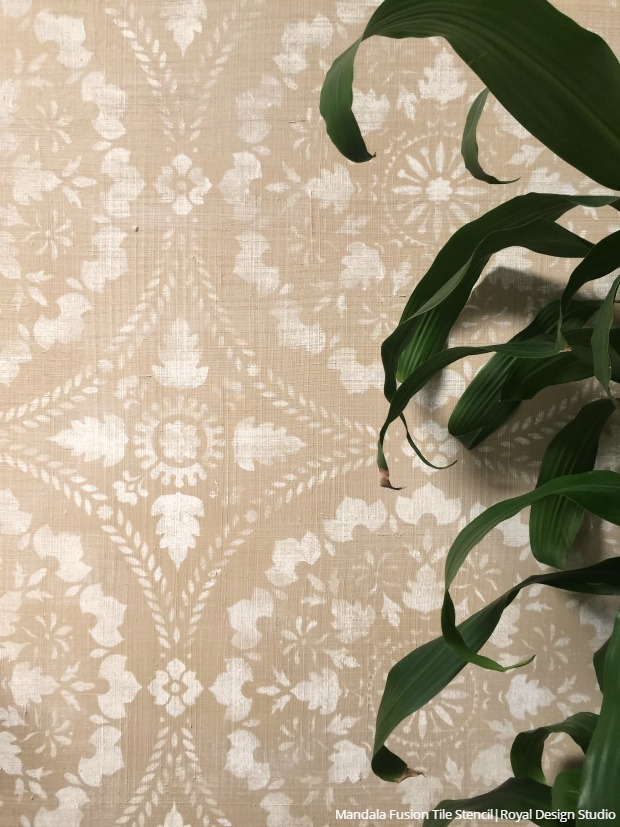 Home Decor Trend Watch: Decorating with Texture - DIY Tutorials and Wall Stencils for Easy Interior Design Texture Ideas - Raised Embossed Pattern with 3D Plaster