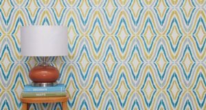 How to Stencil a Modern Wallpaper Look