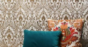 Metallic Home Decor Trend using Wall Stencils