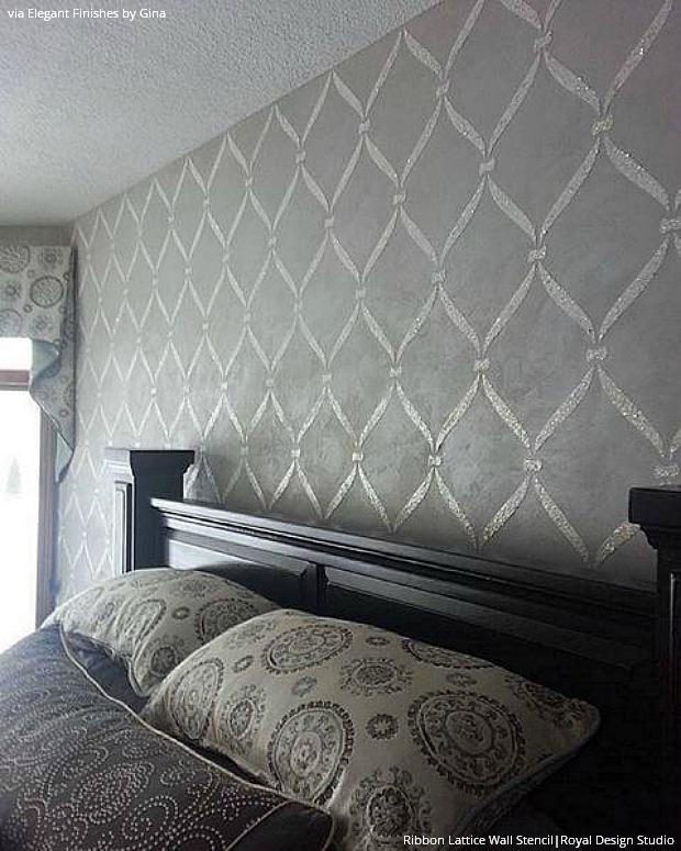 15 Ways To Wake Up A Neutral Color Palette With Shimmery Stenciling