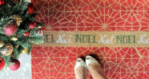 Step into the Christmas Season with a Stenciled DIY Door Mat