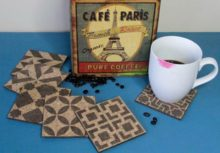Drink Up & Stencil Your Own Cork Coasters
