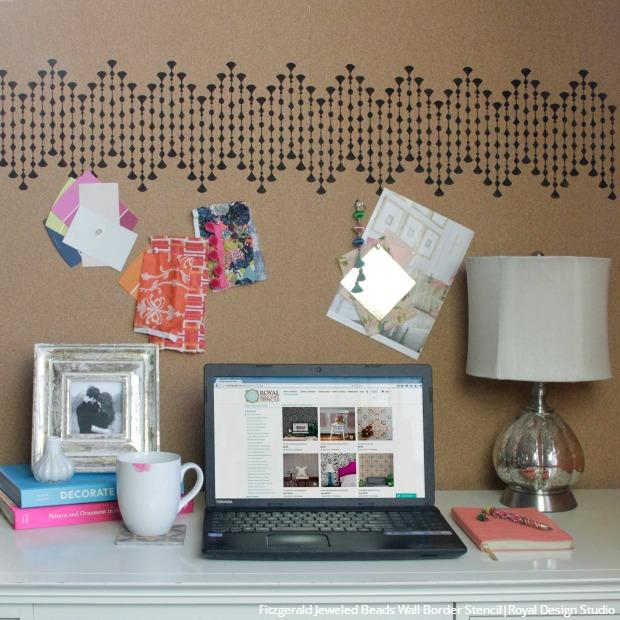 DIY Cork Projects - Arts and Crafts Ideas with Stencil Designs