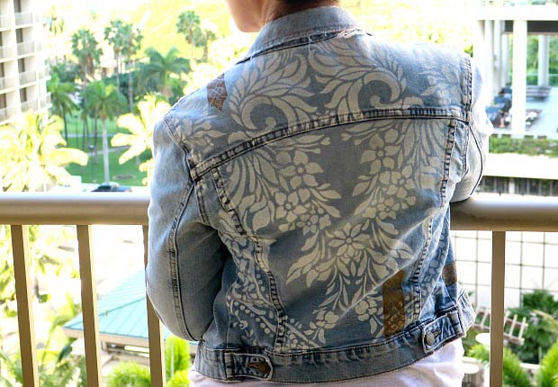 Easy Stencil DIY to Update Your Denim Jacket