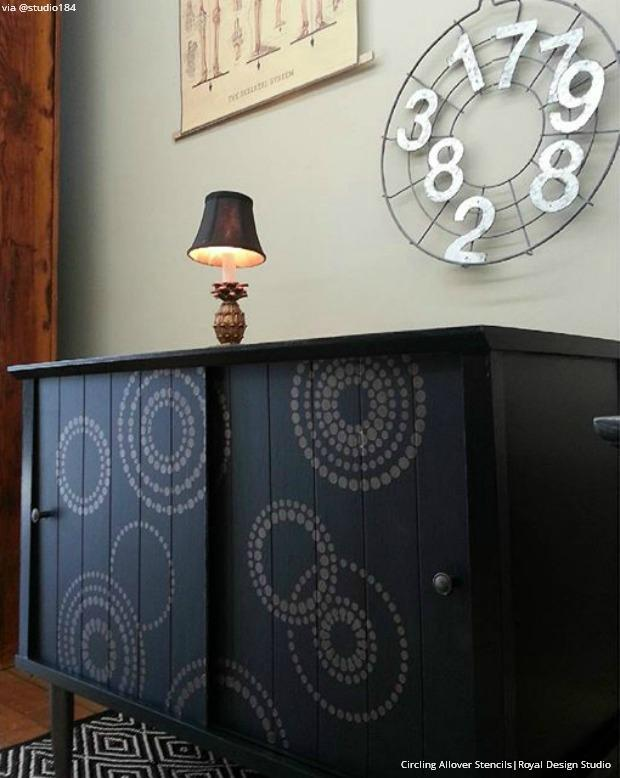 Make It Mid Century Modern for Less with Stencil Patterns