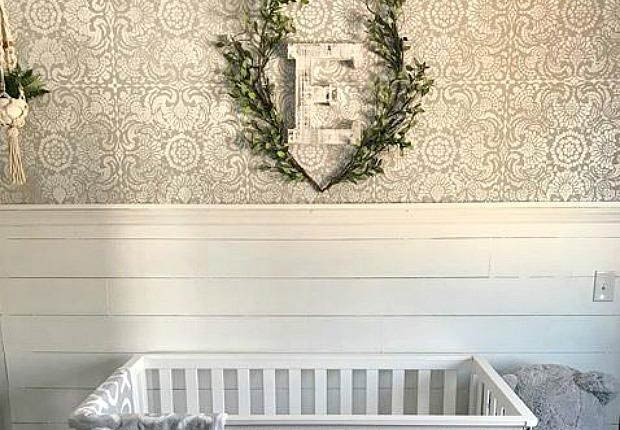 Wall Stencils: Style It with Shiplap, Paneling, and Trim