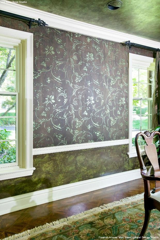Wall Stencils: Style It with Shiplap, Paneling, and Trim - DIY Home Decorating Ideas