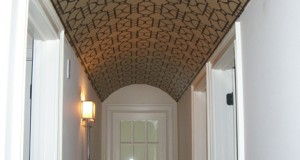 Looking Down the Barrel: Stenciled Ceiling