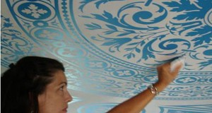 Modello Stenciled Ceiling: Its a Process