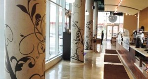 Contemporary Column Art With Stencils