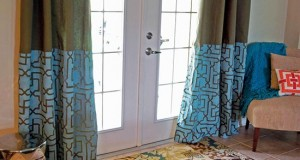 Moroccan-Inspired Stenciled Drapes!