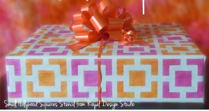 Stenciled DIY Wrapping Paper