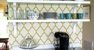 Back-to-Back Stenciled Bookcase Ideas!