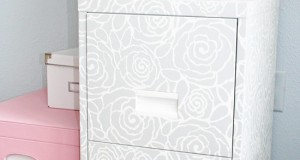 Stylish Office Decor – Stenciled File Cabinets
