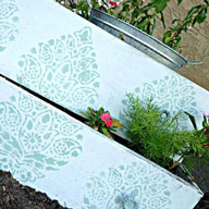 Upcycle Old Dresser Drawers with Stencils