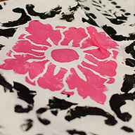Fabric Stenciling Gets Edgy