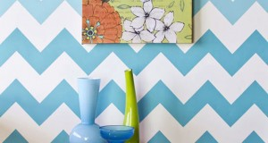Stencil How-to: Ombre Chevron Stripe Pattern