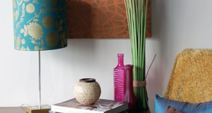 Stencil How-To: Stenciling a Lampshade