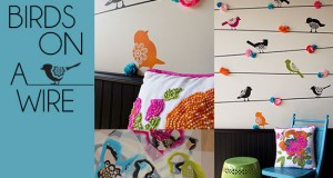 Stencil How-to: Birds on a Wire