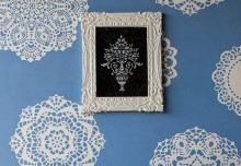 Stencil How-to: Lovely Lace Doily Wall