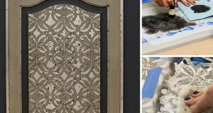 How to Stencil with Royal Stencil Size and Silver Leaf
