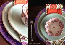 DIY Stenciled Plate Chargers Set a Pattern Trend