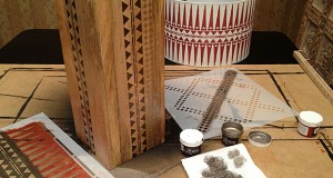 Stenciling a Tribal Lamp: Can You Beat This Drum Shade?