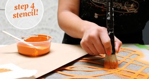 Stencil How-To: Burlap Table Runner