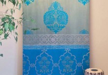 Inspired by Saris: A Shimmery DIY Stenciled Door