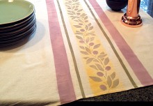 French Country Inspired Stenciled Tea Towels DIY