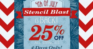 The Big Fourth of July Stencil SALE Explosion!