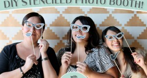 Stencil How-To: Wedding Photo Booth Backdrop