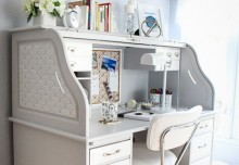 Three Stenciling Tips for a Roll Top Desk